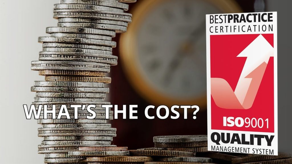 cost to get ISO 9001 certification